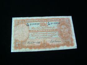 Australia 1939-52 10 Shillings Banknote VG Pick#25b 212350