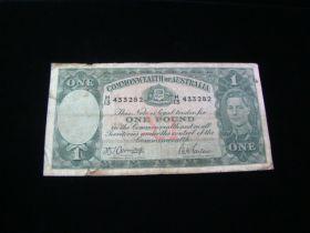 Australia 1938-52 One Pound Banknote VG Pick#26b 433282