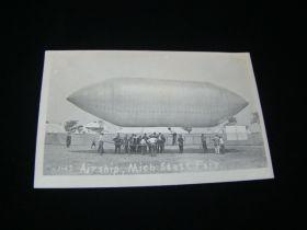 c.1911 Airship Michigan State Fair Real Photo Postcard
