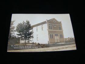 1915 Maccabee Hall Breckenridge Michigan Real Photo Postcard