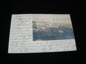 1907 Copemish Michigan Town View Real Photo Postcard