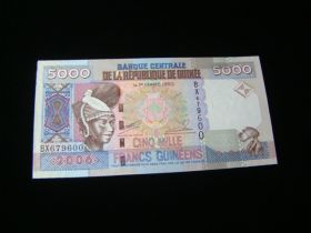 Guinea 2006 5000 Francs Banknote Gem Uncirculated Pick#41a