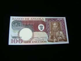 Angola 1973 100 Escudos Banknote Gem Uncirculated Pick #106