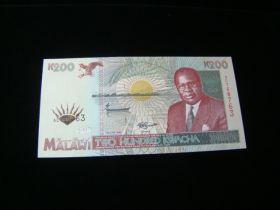 Malawi 1995 200 Kwacha Banknote Gem Uncirculated Pick #35