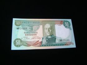 Angola 1972 50 Escudos Banknote Gem Uncirculated Pick #100