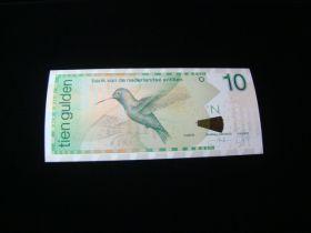 Netherlands Antilles 2003 10 Gulden Banknote Gem Uncirculated Pick #28c