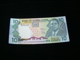 Sierra Leone 1988 10 Leones Banknote Gem Uncirculated Pick #15