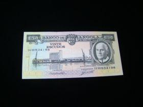 Angola 1962 20 Escudos Banknote XF Pick #92