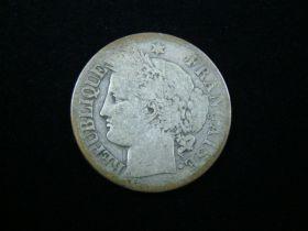 France 1871-A Silver 2 Francs Fine KM#817.1 10125