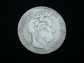 France 1834-W Silver 5 Francs F-VF KM#749.13 20125