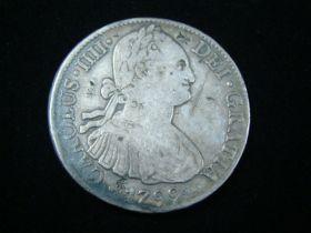 Mexico 1799 FM Mo Silver 8 Reales VF Tiny Chop Marks On Obv. & Rev. KM#109