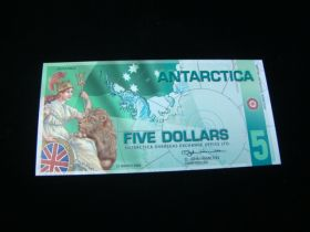 Antarctica 2008 $5.00 Banknote Gem Uncirculated Serial #K0291