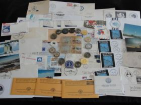 Collection of Antarctic Researcher David Bresnahan With Edmund Hillary Signature