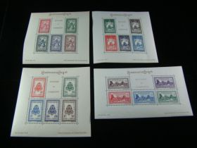 Cambodia Scott #18a//28a Set Sheets Of 5 Mint Never Hinged