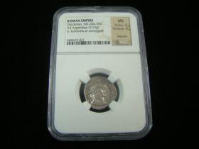 Roman Empire Diocletian AD 284-305 Silver AR Argenteus Campgate NGC MS 5/5, 4/5