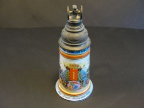 1901-1903 Imperial German 1st Royal Bavarian Field Artillery Beer Stein Named