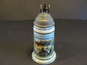 1899-1901 Imperial German 3rd Bavarian Field Artillery Beer Stein Named