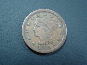 1844 Braided Hair Large Cent VF 40205