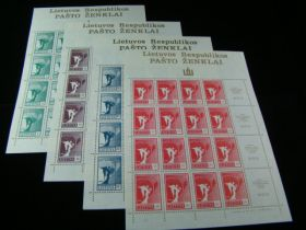 Lithuania Scott #375-378 Set Sheets Of 16 Mint Never Hinged