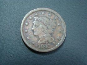 1845 Braided Hair Large Cent Fine 40206