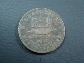 1837 Executive Financiering Illustrious Predecessors Hard Times Token VF HT-34