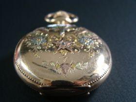 1897 Elgin 6s Pocket Watch Hand Engr 14KT Solid Gold On 14KT Gold Filled Case