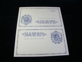 Hawaii Scott #UY3 Unsevered Unfolded Postal Card Mint Never Hinged
