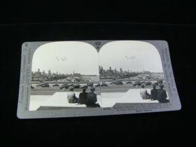 1930's Chicago Skyline Biplanes, Cars on Lake Shore Dr. #1153 Card Keystone