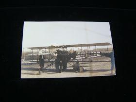 1910 Rare J.C. Bud Mars Real Photo Postcard Standing By Airplane