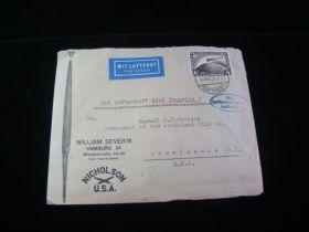 1928 Germany #C37 Graf Zeppelin L.Z. 127 1st Flight To U.S. Commercial Cover