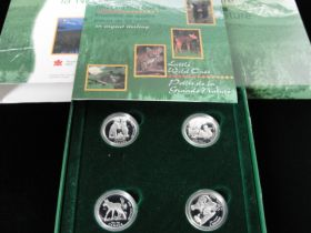 1996 Canadian RCM 50 Cent 4 Coin Proof Set