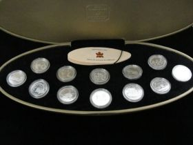 1999 Canadian RCM Millennium 25 Cent 12 Coin Proof Set