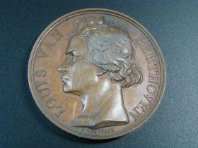 1827 Louis Van Beethoven Copper Medal By E. Gatteaux 50mm 58.6grams