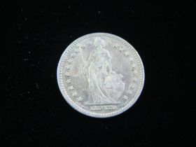 Switzerland 1913B Silver Franc VF+ KM#24 21023