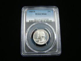 1944-D Washington Silver Quarter PCGS Graded MS66 #42238288
