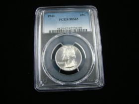 1944 Washington Silver Quarter PCGS Graded MS65 #42238289
