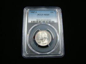 1947-S Washington Silver Quarter PCGS Graded MS65 #42238291