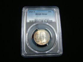 1945-S Washington Silver Quarter PCGS Graded MS66 #42238292