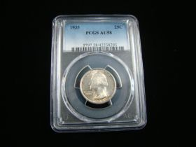 1935 Washington Silver Quarter PCGS Graded AU58 #42238293