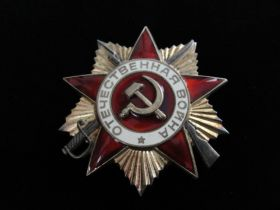 1985 Soviet Order of the Patriotic War 1st Class Medal S/N 2124855