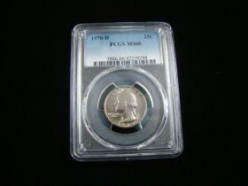 1970-D Washington Quarter PCGS Graded MS66 #42238298