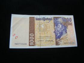 Portugal 2000 1000 Escudos Banknote VF Pick#188d
