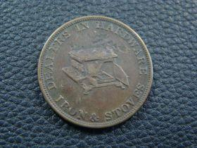 1856 John Plane & Co Belvidere Illinois Dealer In Hardware Merchant Trade Token