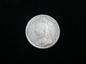 Great Britain 1891 Silver 3 Pence VF KM#758 20916