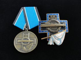"Russian K-141 ""Kursk"" Submarine Recovery Medal and Badge"