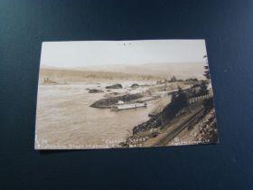 "1903-07 Columbia River Highway Oregon ""Cascade Locks"" Real Photo Postcard"