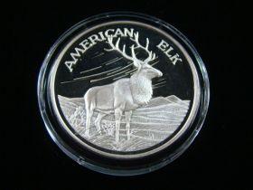 "North American Wildlife Series ""American Elk"" 2 Ounces .999 Fine Silver Medal"