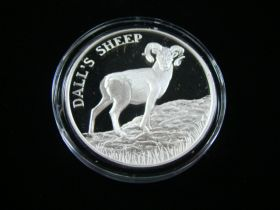 """North American Wildlife Series """"Dall's Sheep"""" 2 Ounces .999 Fine Silver Medal"""