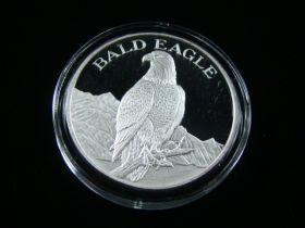 "North American Wildlife Series ""Bald Eagle"" 2 Ounces .999 Fine Silver Medal"