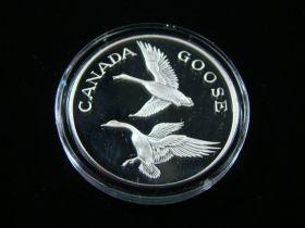 "North American Wildlife Series ""Canada Goose"" 2 Ounces .999 Fine Silver Medal"